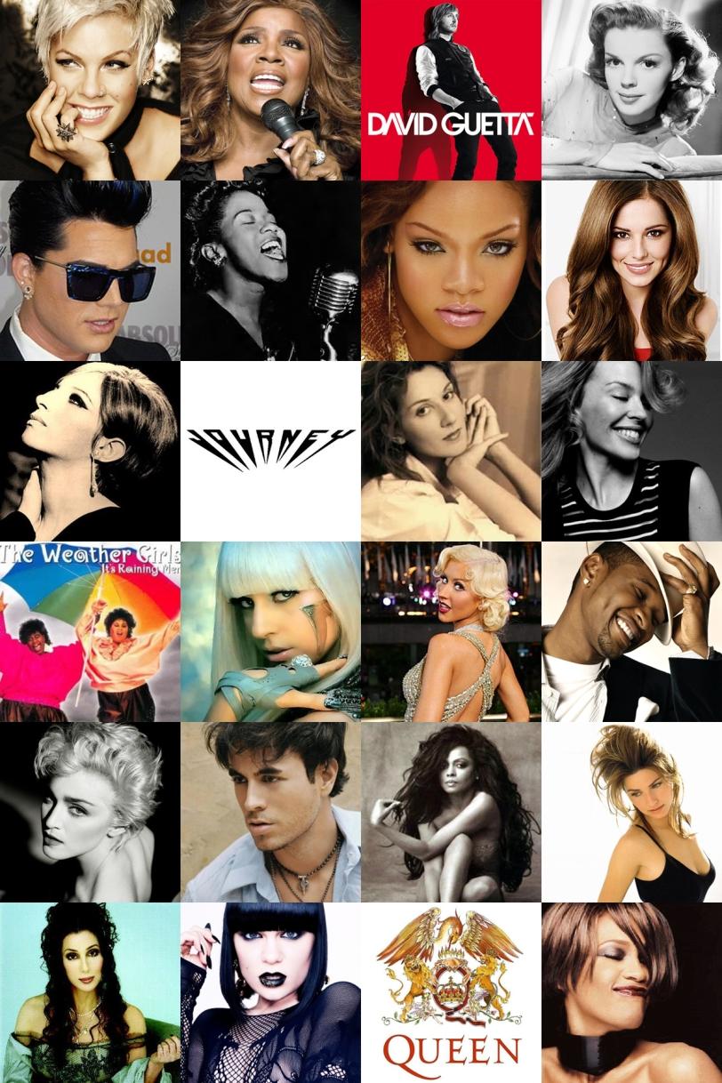 Singers of the 50 gay songs